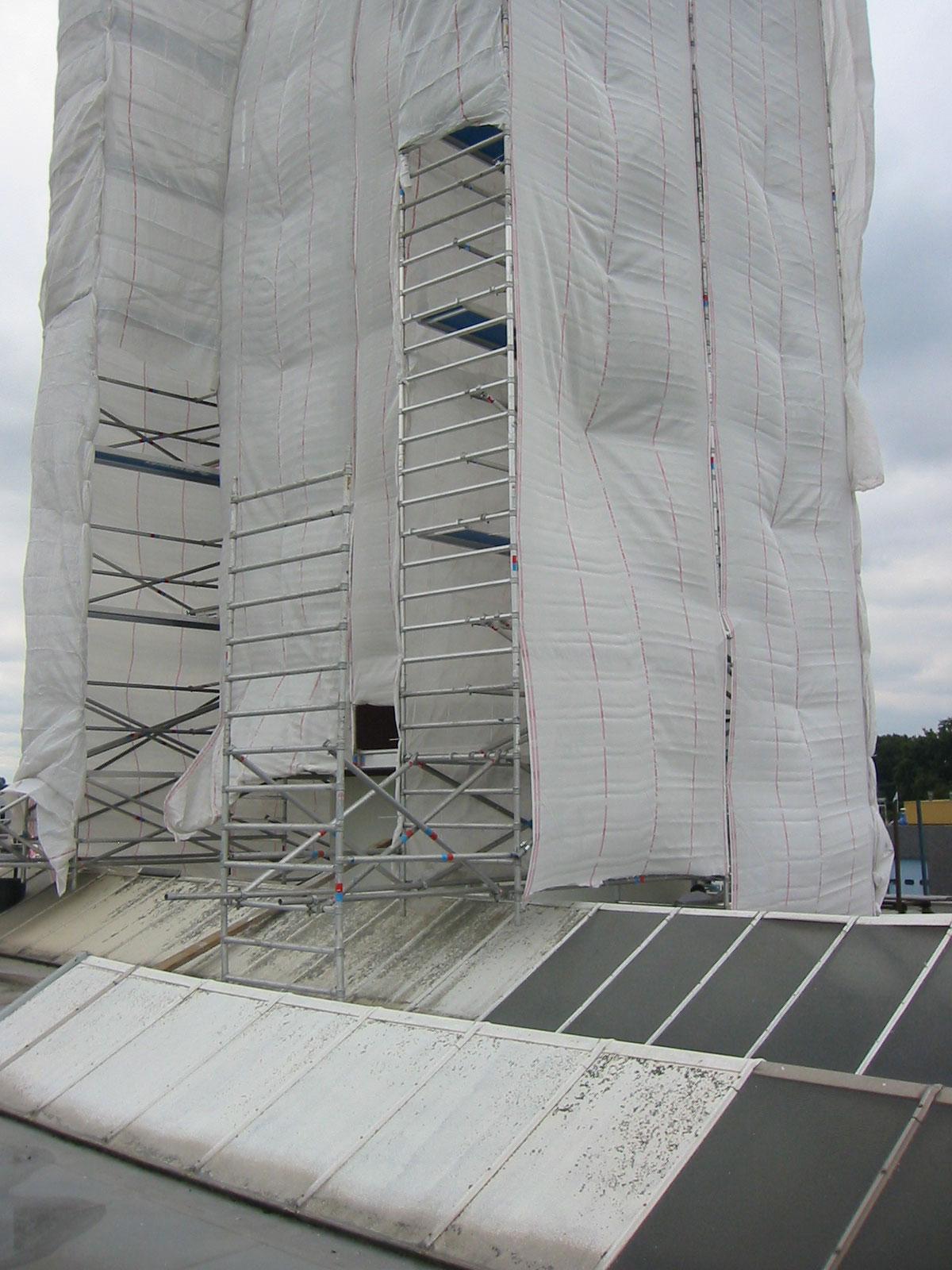Voorzien van winddoeken